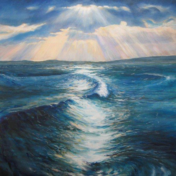 Morning Waves St. Ives Bay