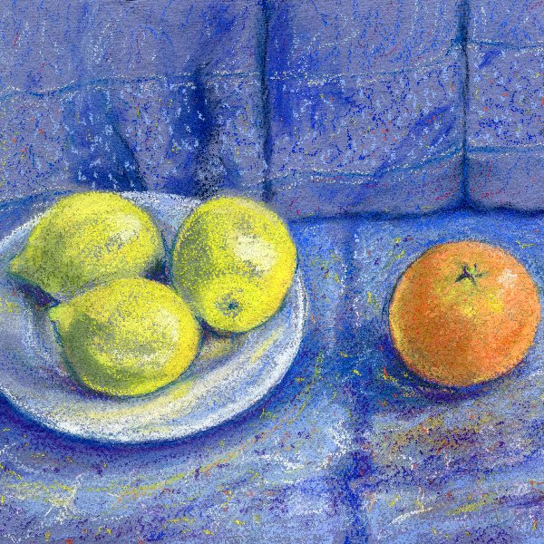 Citrus on Blue