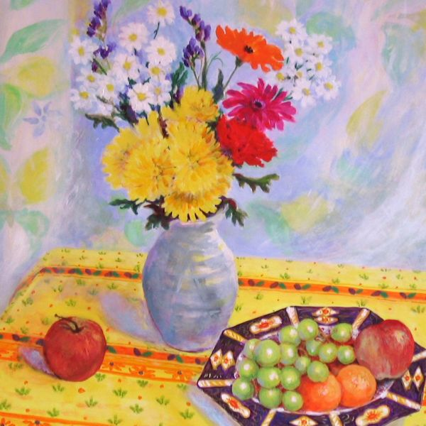 Fabric Fruit and Flowers