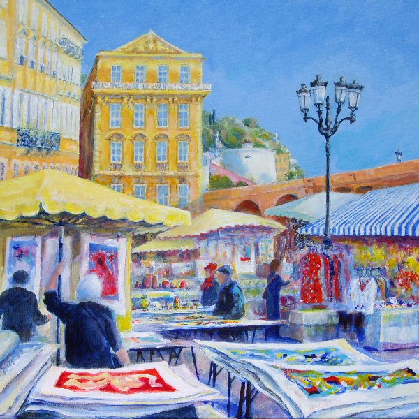 Selling Prints in Cours Saleya